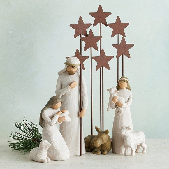 Willow Tree metal star backdrop new in box! ⭐️